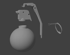 M67 grenade for 3d print