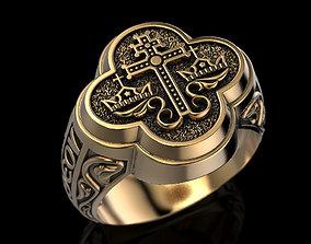 Wedding Orthodox Byzantine ring 3D print model