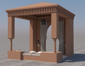 3D Traditional Moroccan Terrace Marrakech
