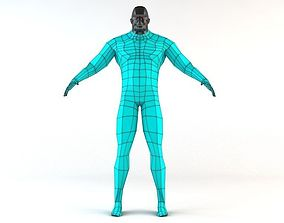 Futuristic Male Human Game Character 3D asset