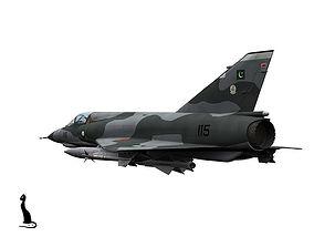 Dassault Mirage III E Pakistan scheme 3D model