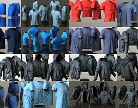 14 Male Sport Casual Clothing Item Collection 3D