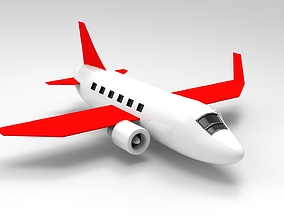 3D print model flying AIRPLANE