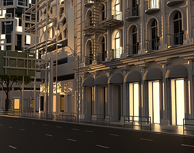 3D model City Intersection 102