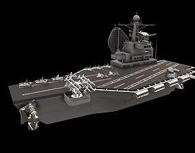 aircraft carrier battleship 3D asset