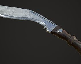 Kukri Knife with PBR textures 3D model