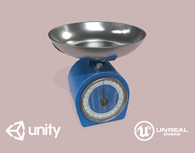 Kitchen Scales 3D model low-poly