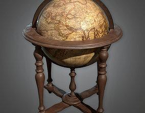 Standing Globe Antiques - ATQ - PBR Game Ready 3D asset
