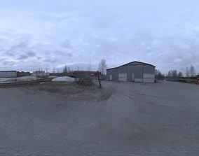 Industrial Area HDRI - Dusk Desolation 3D model