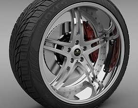 3D model Savini Forged SV-23S Wheel and Tire