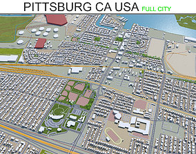 Pittsburg California 30Km 3D asset