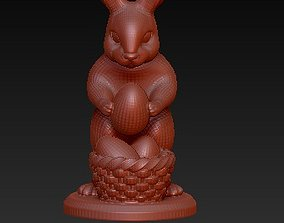 easter bunny 3D print model art-and-medium