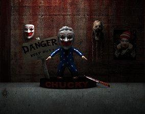 Scary Scene Chucky HD 3D Models 2016 realtime