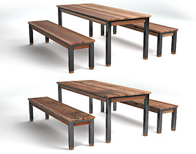3D asset Designer seating set with two textures