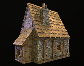 3D model VR / AR ready PBR House architecture
