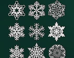 3D printable model Snowflakes Pack