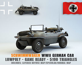 Low Poly VW Type 166 Schwimmwagen 3D model realtime