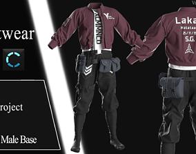 3D model Male Streetwear 3 outfit