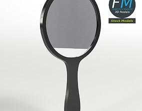 Round handheld mirror 3D