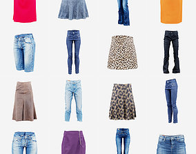 12 Pants and Skirts 3D asset