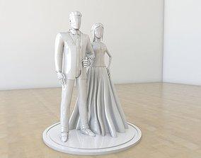 3D print model Wedding couple cake decor