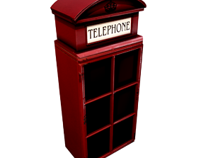 3D model English Phone Booth - Key Holder Box