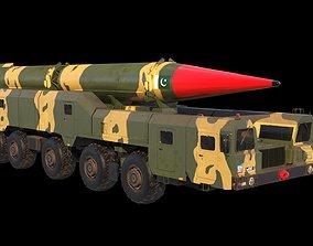 Shaheen-2 missile launcher 3D