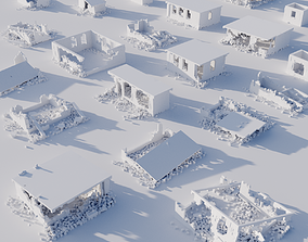 Voxel Building Ruins 3D model