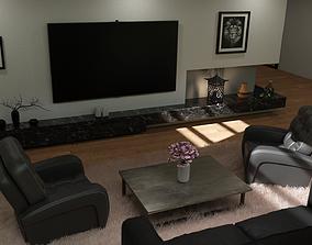 3D Cozy modern Loft