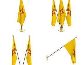New Mexico Flag Pack 3D model
