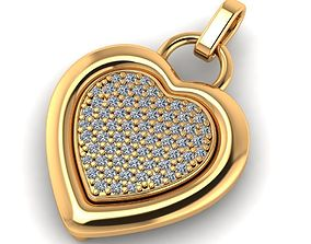 Beautiful heart pendant with stones 3D printable model
