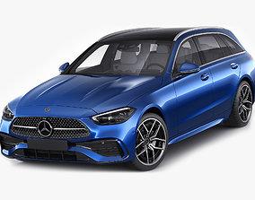 Mercedes-Benz C-class estate AMG-line 2021 3D model