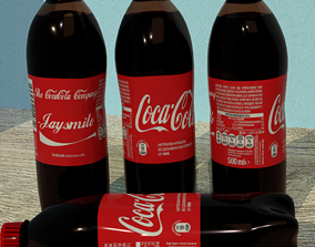 Photorealistic Coca-Cola Bottle with Custom Name 3D asset