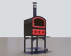 3D kitchen Pizza oven metallic