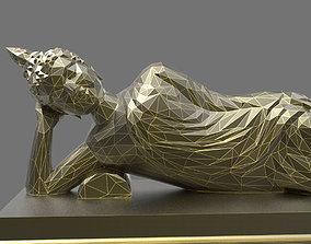 3D print model Asian Sleeping Buddha Statue