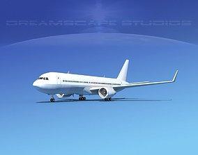 Boeing 767-300 Unmarked 1 3D model