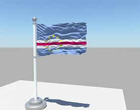 3D model Cape Verde flag