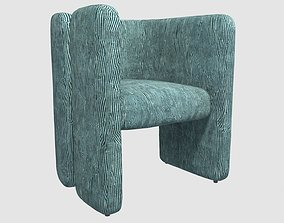 3D model FAIRFAX CHAIR Avant Blue by Kelly Wearstler
