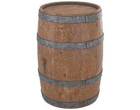 Wine Barrel 1 3D asset