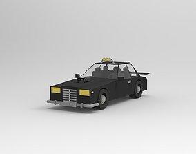 maya Low poly car 3D model realtime