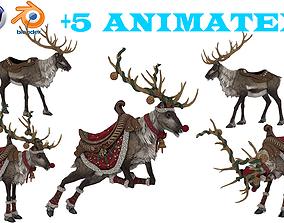 animated Santa Claus 3D model
