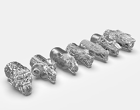 3D printable model End pieces for bracelets 3