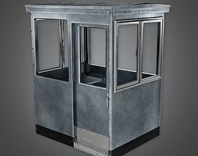 Military Metal Outdoor Security Booth - MLT - 3D asset 2