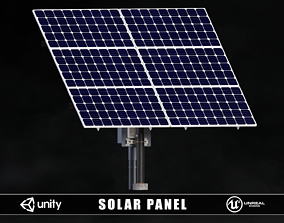 3D asset low-poly Solar Panel