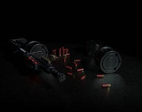 Corpse Sweeper Semi-Automatic Shotgun 3D asset