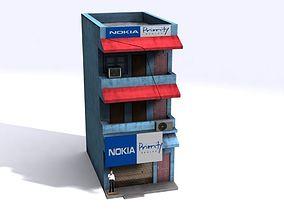3D asset Indian Building Low Poly 02
