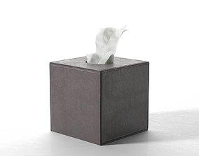 3D model Leather Tissue Box Square