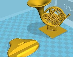3D printable model French horn desk pen holder office