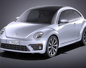 VW Beetle R Line 2014 VRAY 3D model