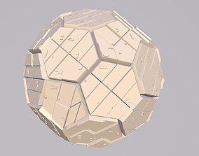 Sphere Scifi Object No 1 Cinema 4D FBX OBJ MTL STL 3DS